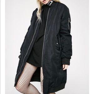 Dolls kill long bomber jacket